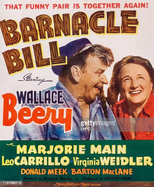 Wallace Beery Marjorie Main on window card 1941