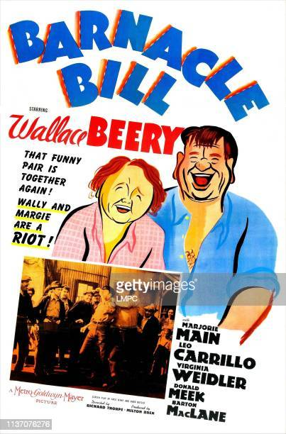 Barnacle Bill poster US poster from left Wallace Beery Marjorie Main 1941