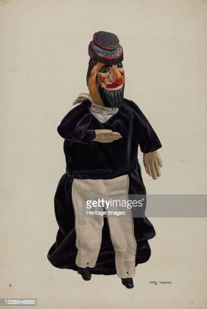 Barnacle Bill Puppet, circa 1938. Artist Chris Makrenos.