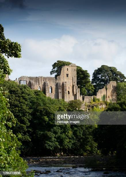 Barnard Castle County Durham 2017 General view of the castle ruins from the north with the river Tees in the foreground Artist Alun Bull