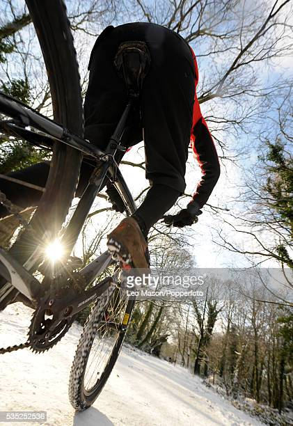 Barnes Common UK in action on his mountain bike by Leo Mason""