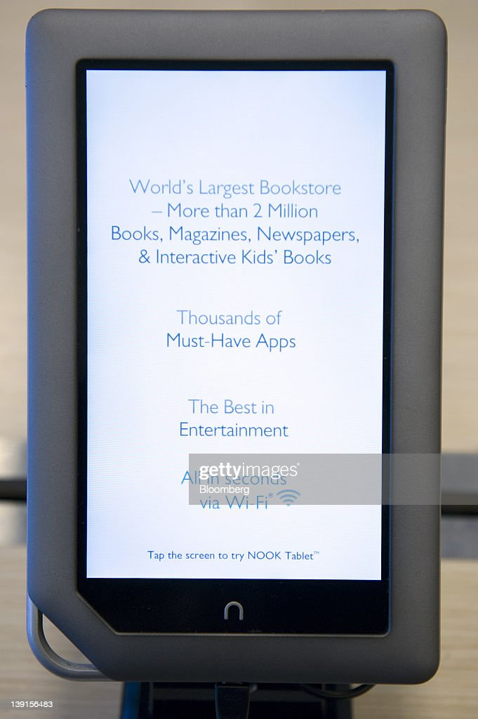 A Barnes & Noble Inc  Nook Tablet is displayed at a store in