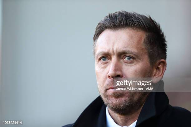 Barnet caretaker manager Darren Currie during the FA Cup Third Round match between Sheffield United and Barnet at Bramall Lane on January 6 2019 in...