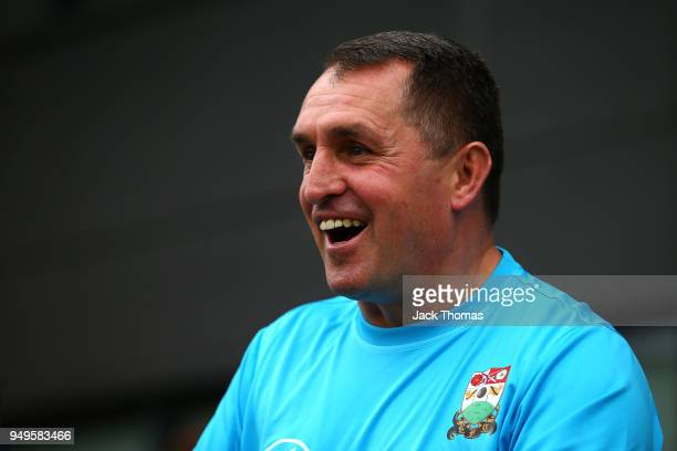 Barnet FC Manager Martin Allen looks on ahead of the Sky Bet League Two match between Barnet FC and Newport County at The Hive on April 21 2018 in...