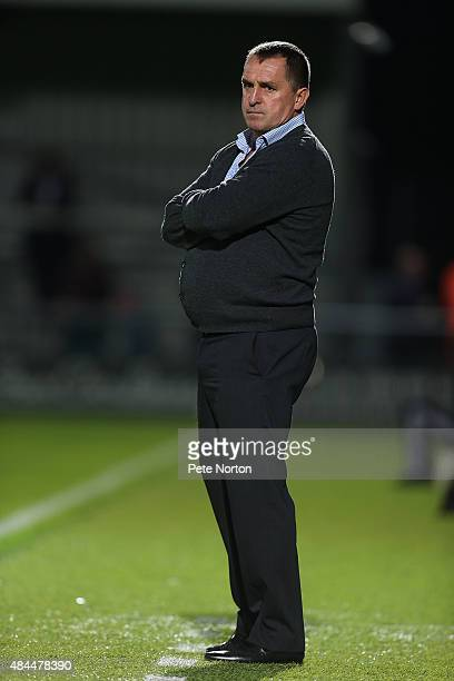 Barnet manager Martin Allen looks on during the Sky Bet League Two match between Barnet and Northampton Town at The Hive on August 18 2015 in Barnet...