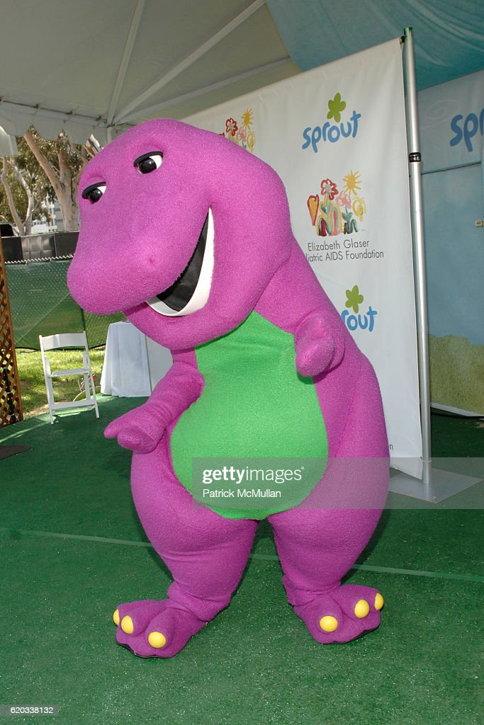 Barney attends 24 hour preschool television channel SPROUT at the