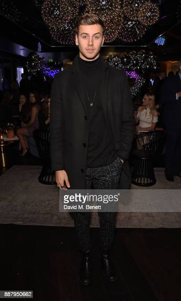Barney Banks attends the Tempus Magazine annual Christmas Party at The Rumpus Room Mondrian Hotel on December 7 2017 in London England