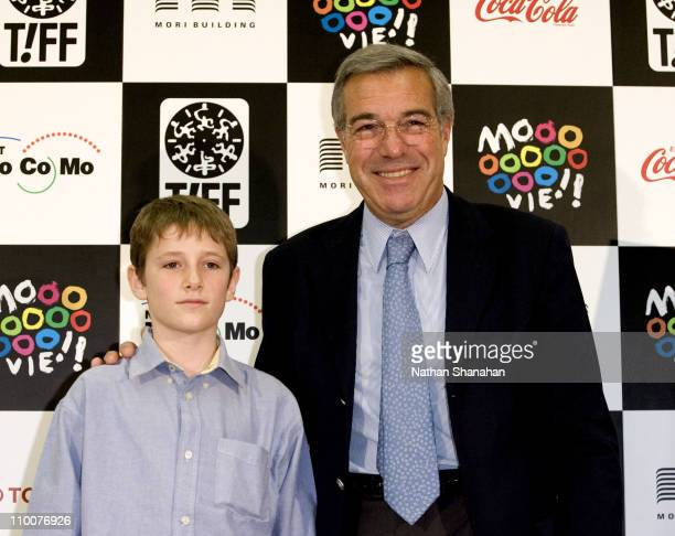 """Barney Clark and Robert Benmussa - Produce during Tokyo International Film Festival - """"Oliver Twist"""" Press Conference at Orchard Hall in Tokyo, Japan."""