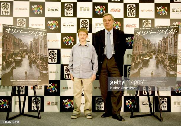 """Barney Clark and Robert Benmussa - Producer during Tokyo International Film Festival - """"Oliver Twist"""" Press Conference at Orchard Hall in Tokyo,..."""