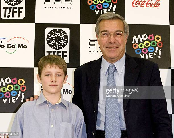 Barney Clark and Robert Benmussa Producer during Tokyo International Film Festival Oliver Twist Press Conference at Orchard Hall in Tokyo Japan