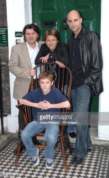 Barney Clark with Jamie Foreman Harry Eden and Mark Strong