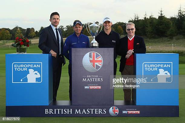 Barney Francis the managing director of Sky Sport s Tournament host Luke Donald of England Champion Alex Noren of Sweden and Keith Pelly the CEO of...