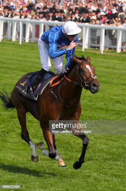 Barney Roy ridden by jockey James Doyle on his way to winning the St James's Palace Stakes during day one of Royal Ascot at Ascot Racecourse