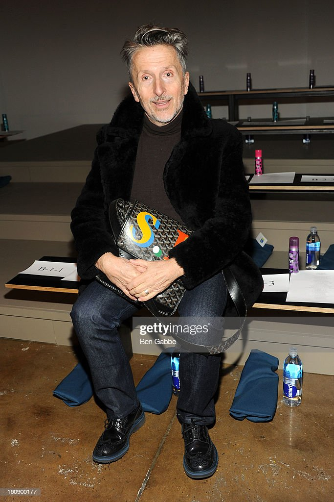 Barneys Creavtive Ambassador-at-Large Simon Doonan attends the Costello Tagliapietra fall 2013 fashion show during MADE fashion week at Milk Studios on February 7, 2013 in New York City.