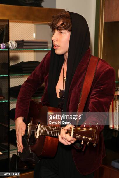 Barns Courtney attends the Slowear London Launch on February 22 2017 in London England