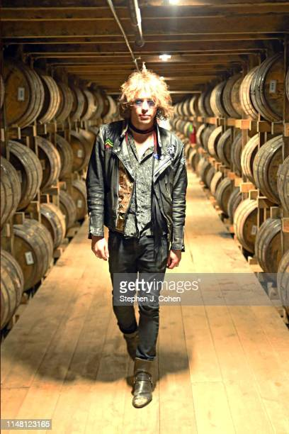 Barns Courtney poses at the Jim Beam American Stillhouse during a tour of the Jim Beam Distillery on May 09 2019 in Clermont Kentucky
