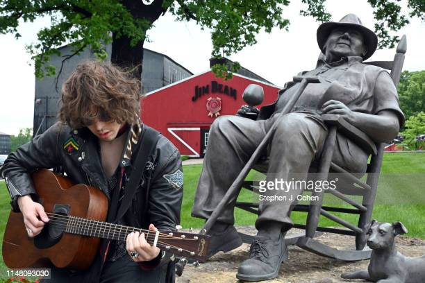 Barns Courtney poses for photos during a tour of the Jim Beam Distillery with his fans on May 09 2019 in Clermont Kentucky