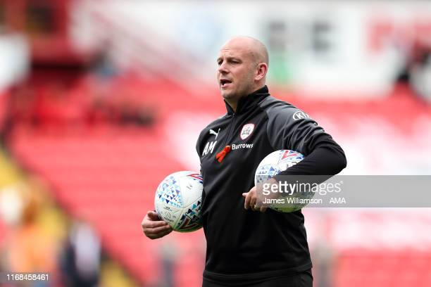 Barnsley first team coach Adam Murray during the Sky Bet Championship match between Barnsley and Leeds United at Oakwell Stadium on September 15 2019...