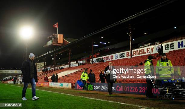Barnsley manager Gerhard Struber walks off the pitch following the Sky Bet Championship match between Barnsley and Preston North End at Oakwell...