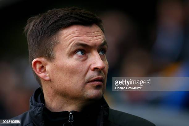 Barnsley manager Paul Heckingbottom during The Emirates FA Cup Third Round match between Millwall and Barnsley at The Den on January 6 2018 in London...