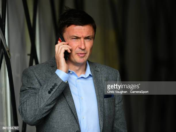 Barnsley manager Paul Heckingbottom during the prematch warmup priot to the Sky Bet Championship match between Barnsley and Middlesbrough at Oakwell...