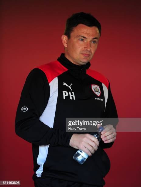 Barnsley manager Paul Heckingbottom during the Sky Bet Championship match between Bristol City and Barnsley at Ashton Gate on April 22 2017 in...