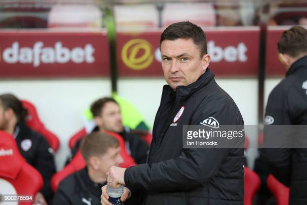 Barnsley manager Paul Heckingbottom during the Sky Bet Championship match between Sunderland and Barnsley at land manager Chris ColemanStadium of...