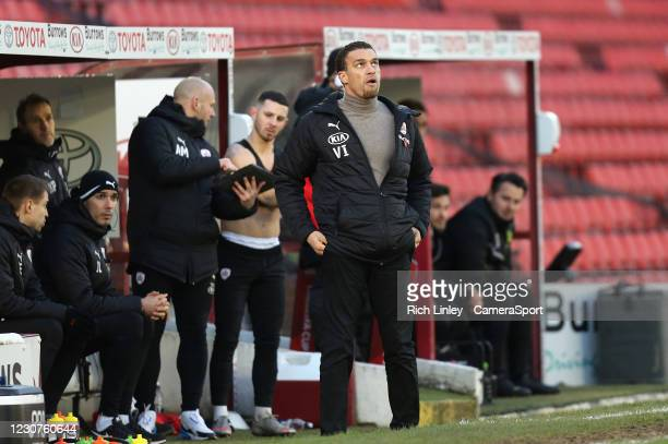 Barnsley manager Valerien Ismael during the The Emirates FA Cup Fourth Round match between Barnsley and Norwich City at Oakwell Stadium on January...