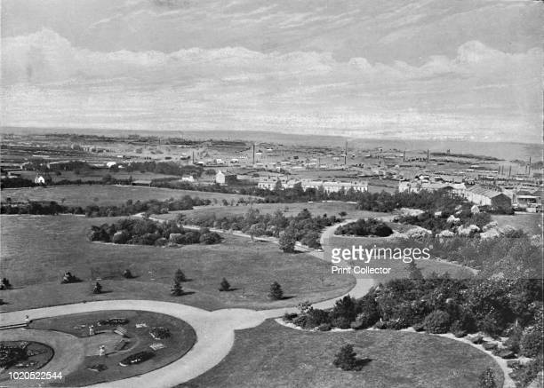 Barnsley Park and Town', circa 1896. From Pictorial England and Wales. [Cassell and Company, Limited, London, Paris & Melbourne, circa 1896]. Artist...