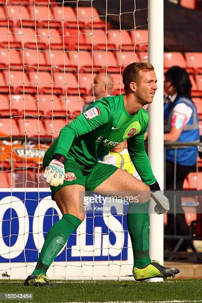 Barnsley's Ben Alnwick during the npower Championship match between Barnsley and Blackpool at Oakwell Stadium on September 15 2012 in Barnsley England