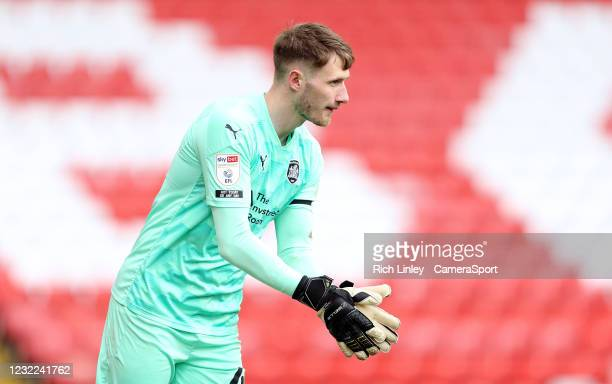 Barnsley's Bradley Collins during the Sky Bet Championship match between Barnsley and Middlesbrough at Oakwell Stadium on April 10, 2021 in Barnsley,...