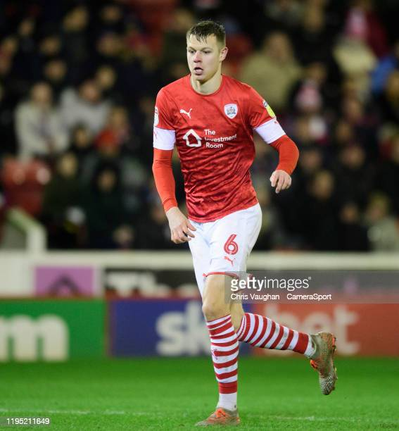 Barnsley's Mads Juel Andersen during the Sky Bet Championship match between Barnsley and Preston North End at Oakwell Stadium on January 21 2020 in...