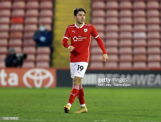 Barnsley's Patrick Schmidt during the The Emirates FA Cup Fourth Round match between Barnsley and Norwich City at Oakwell Stadium on January 23, 2021...