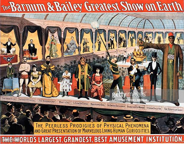 Barnum and Bailey Greatest Show on Earth The Peerless Prodigies of Physical Phenomena and Great Presentation of Marvelous Living Human Curiosities...