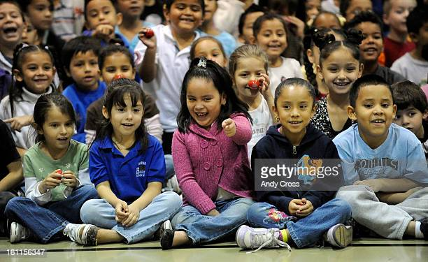 COOCTOBER 7TH 2010 Barnum Elementary School students have a laugh as they watch performances from Ringling Bros and Barnum and Bailey Circus...