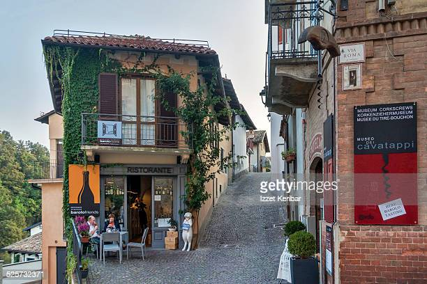 Barolo Street in Langhe, Cuneo, Italy