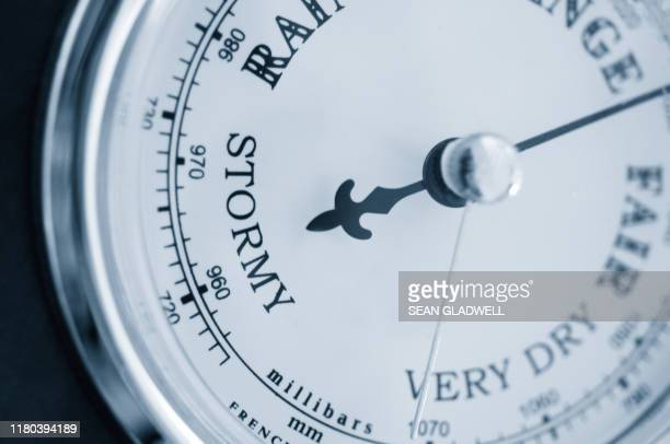barometer dial - humid stock pictures, royalty-free photos & images