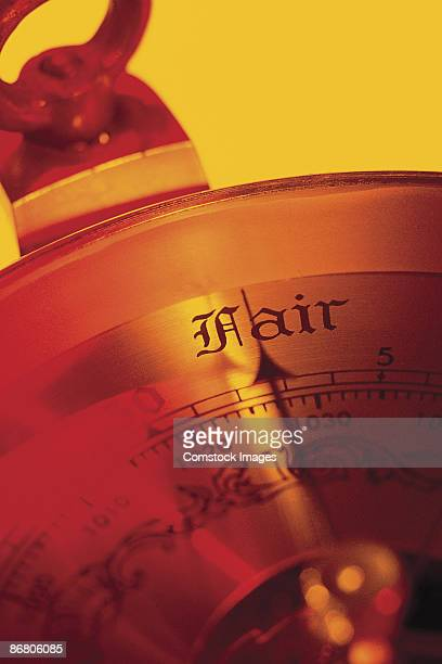 Barometer needle pointing to fair
