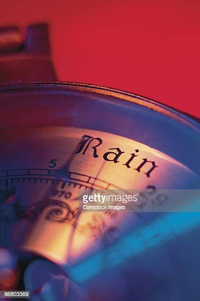 Barometer pointing to rain
