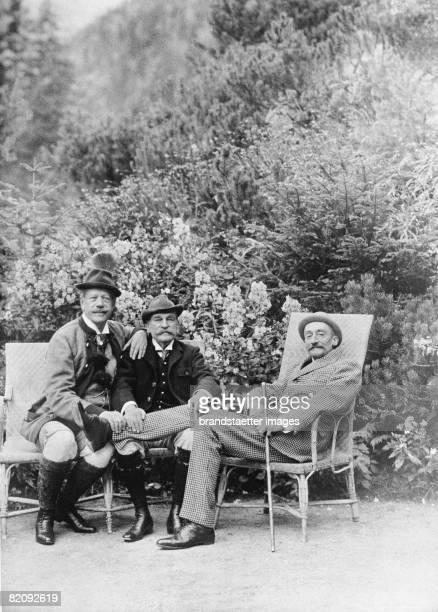 Baron Albert de Rothschild with hunting friends in Lower Austria Photograph Austria Um 1895 [Albert Freiherr von Rothschild mit Jagdfreunden in...