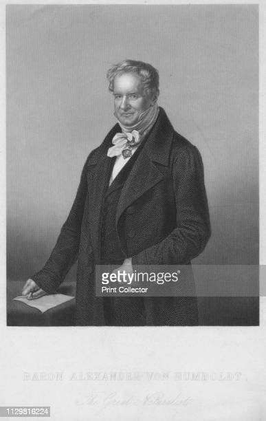 Baron Alexander Von Humboldt The Great Naturalist' 1850s Portrait of Prussian naturalist and explorer Alexander von Humboldt whose interests included...