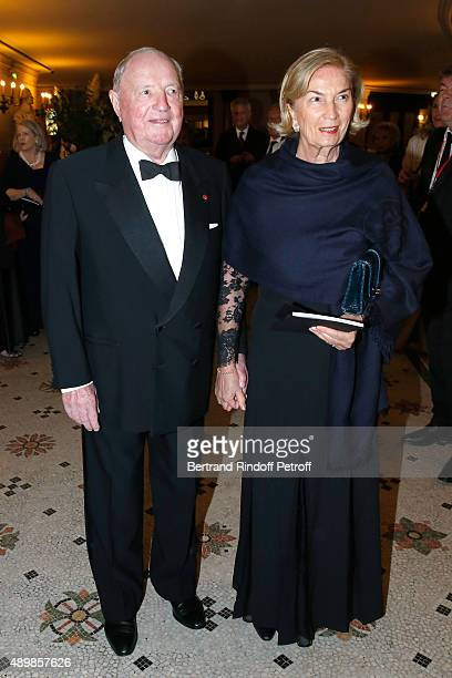 Baron and Baroness Albert Frere attend the Ballet National de Paris Opening Season Gala at Opera Garnier on September 24 2015 in Paris France