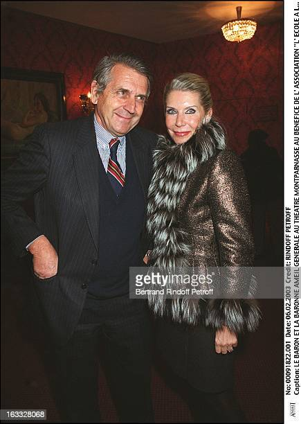 Baron and Baroness Ameil preview at the Montparnasse theater for the benefit of the association 'Shcool at the hospital'