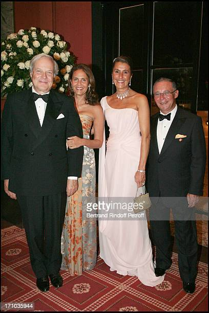Baron and Baroness David of Rothschild and Count and Countess Philippe of Nicolay Ball of Deauville to the benefit of the association Care France and...