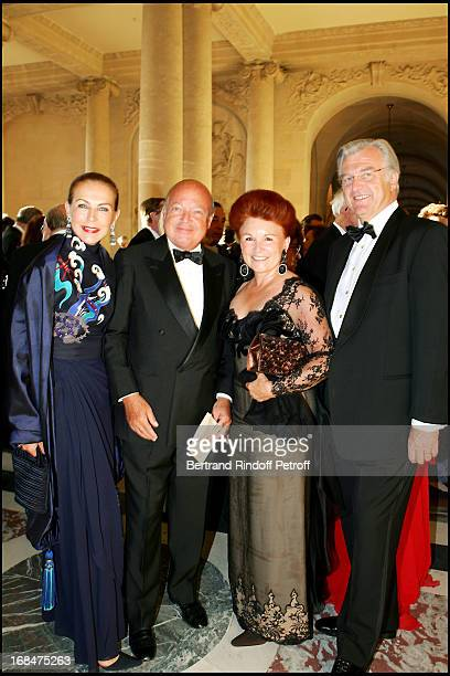 Baron and Baroness Emmanuel Reille and the Count and Countess Jerome De Witt at Dinner To Benefit The Sovereign Military Order Of Malta In Versailles