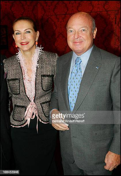 Baron and Baroness Emmanuel Reille at L'Evangile Selon Pilate At Theatre Montparnasse