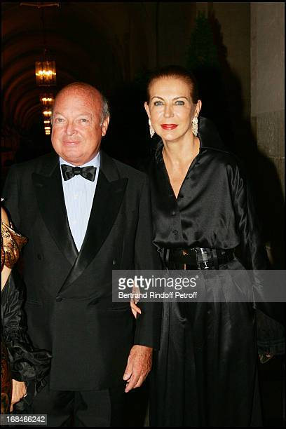 Baron and Baroness Emmanuel Reille party to the benefit of the artworks of the Sovereign Order of Malta in Lebanon at the Royal opera of the Chateau...