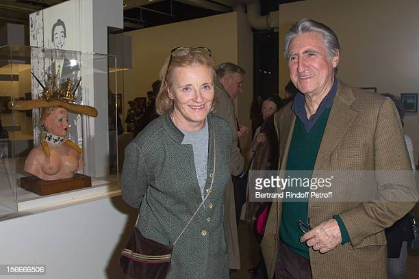 Baron and Baroness ErnestAntoine and Antoinette Seilliere attend Dali Private Exhibition Preview at Centre Pompidou on November 18 2012 in Paris...