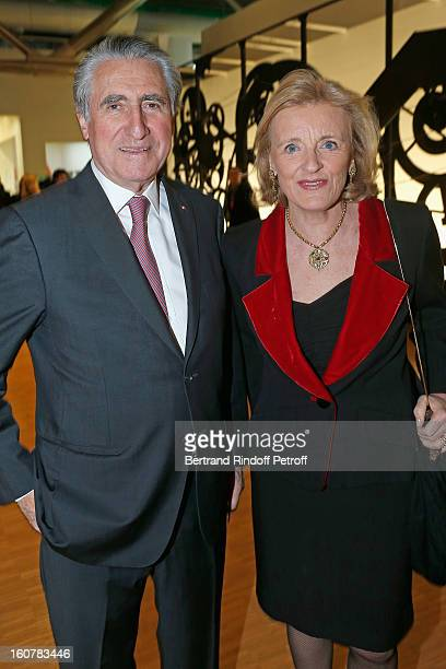 Baron and Baroness ErnestAntoine Seilliere attend the 8th Annual Dinner of the 'Societe Des Amis Du Musee D'Art Moderne' at Centre Pompidou on...