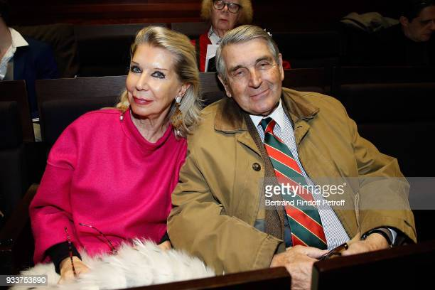 Baron and Baroness Gilles Ameil attend a Tribute To Leonard Bernstein on the 100th anniversary of his birth later this year at Maison de La Radio on...